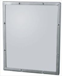 Security Mirror- Seamless Frame with Exposed Mount