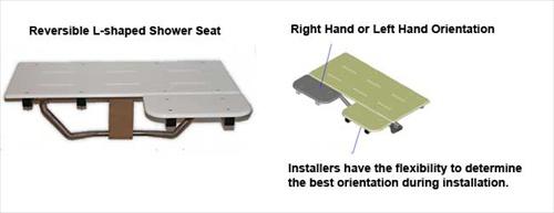 ADA L-Shaped Shower Seats