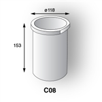 Crucible C900 (Ceramic Only) C08 [8KG Capacity]