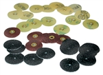 Moore's Moorplastic Sand Emery Snap-on Discs