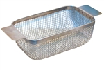 "Stainless Steel Basket for Ultrasonic Cleaner | FOR 1-1/2 GAL | 9"" x 5"" x 3-1/8"""