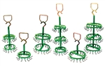 "PLATING RACK 2"" 1R 8  HOOKS PVC COATED"