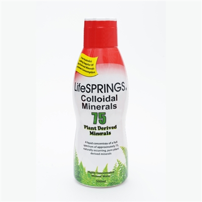 LifeSprings Colloidal Minerals - 75 Plant Derived Minerals