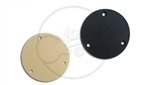 Circular Switch Cavity Cover in Black and Aged White