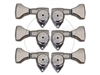 "Hipshot ""Griplock"" Machine heads - Open Gear - Set - Chrome"