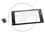 A Black Plastic Humbucker Ring suitable for a 7 String Humbucker with Screws.
