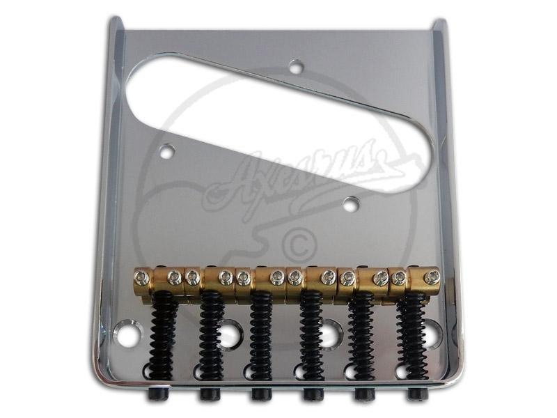 NICKEL NEW Vintage Style 6 Saddle Steel Bridge For Fender Tele