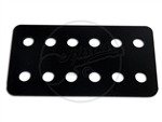 Black PVC Humbucker Top Plate