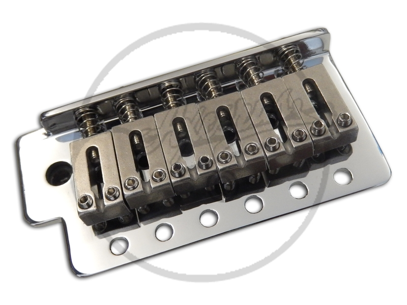 """2-1//16/"""" String Spacing NEW CHROME 2-Post Guitar Tremolo With Hardware"""