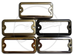 Covers for surface mounting mini humbuckers, in the 'Black Top' Filtertron style