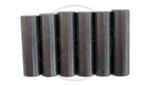 "6 x Rod Magnets - Staggered, Light Bevel - 1/4"" Diameter"