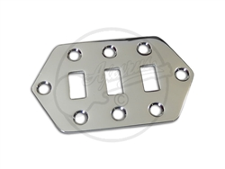 Switch Control Plate for Fender Jaguar in Chrome
