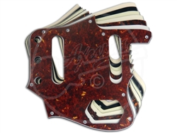 A selection of pickguards suitable for the Fender Japan Jaguar, with a square neck pocket.