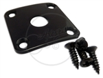 Square Jack Plate - Curved - Black