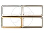 Open Frame Humbucker Cover - German Silver / Nickel