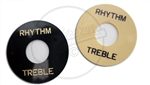 "Pickup "" Rhythm Treble"" Selector Ring in Aged White and Black"