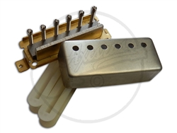 A traditional mini humbucker parts kit