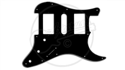 "Pickguard - Suitable for 1963 - 2013 Fender® Stratocasters® - ""Super Fat - HBSCHB"""