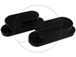 Two Black Pickup Covers Suitable For Fender Mustang Bass