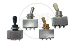 Silver Bodied Short 3 way Toggle Pickup Selector Switch