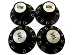 Gibson Styled Witch hat knobs - 2 vol 2 tone