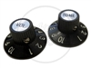 Black Witch Hat Knobs for Solid Shaft Pots