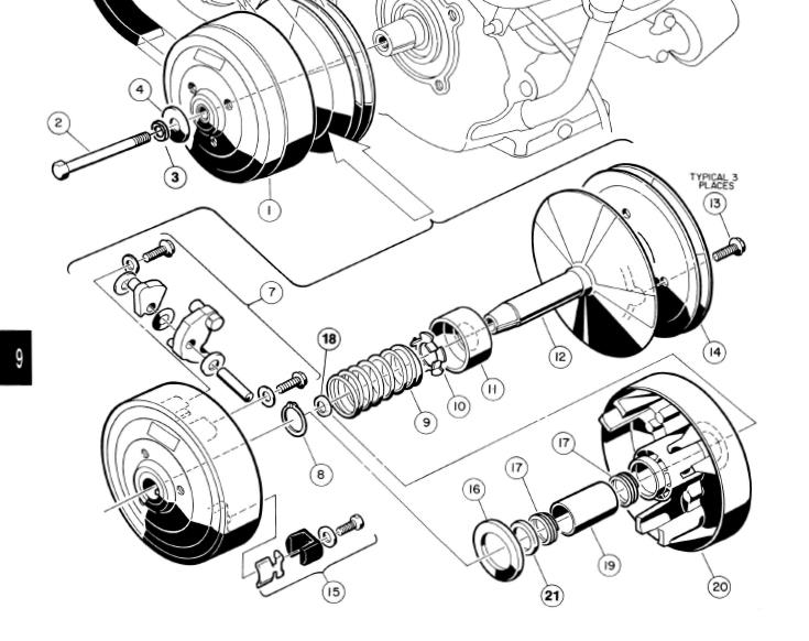 Club Car Clutch Diagram - Wiring Diagrams Dock