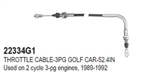 THROTTLE CABLE-3PG GOLF CAR-52.4IN