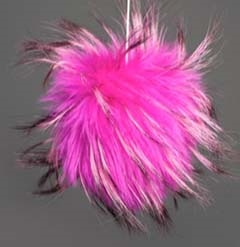 Raccoon Pom-Pom w/o Snap Hot Pink