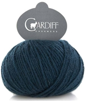Classic Cardiff Cashmere 649 Ottoman (Dk. Teal)