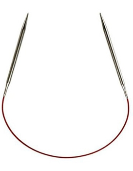 "Knit Red 9"" Circular Needle #4 (3.5mm)"