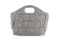 Basket Weave Project Tote Dove Grey
