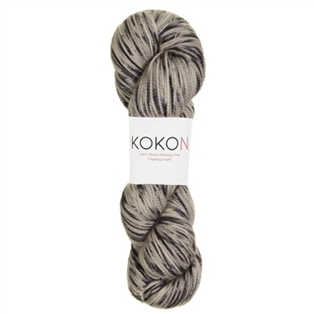 Kokon Fingering Weight Merino 100gr Black Speckled