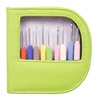 Waves Crochet Hook Set (Green Leather)