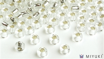 Miyuki 6/0 Glass Beads 1 Silverlined Crystal 30gr