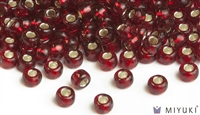 Miyuki 6/0 Glass Beads 11 Silverlined Ruby 30gr