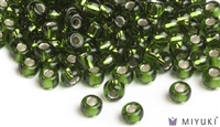 Miyuki 6/0 Glass Beads 26 Silverlined Moss Green 30gr