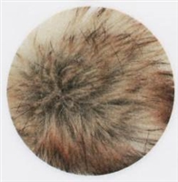 Faux Fur 16cm Pom-Pom 205 Wheat