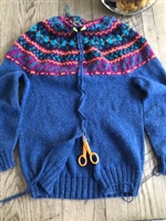 Steeked Seamless Yoke Fair Isle Cardigan Workshop: Sunday 9/22, 10/6, 11/10, 12/8, 1/5/20, 1/26/20, & 2/9/20