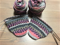 2-at-a-time Toe Up Sock Knitting Workshop: postponed due to COVID-19