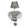 Scarf Pendant Silver Heart