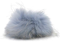 Raccoon Pom-Pom w/ Snap 024 Lilac/Light Blue