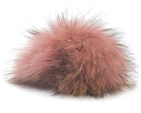 Raccoon Pom-Pom w/ Snap 027 Rose/Black