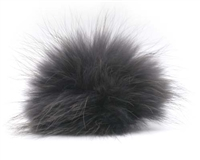 Raccoon Pom-Pom w/ Snap 112 Charcoal/Black