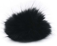 Raccoon Pom-Pom w/ Snap 127 Black
