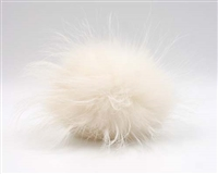Raccoon Pom-Pom w/ Snap 128 White