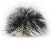 Raccoon Pom-Pom w/ Snap 144 Black/White