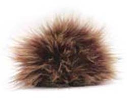 Raccoon Pom-Pom w/ Snap 150 Natural (Discontinued)