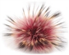Raccoon Pom-Pom w/ Snap 505 Wine w/Black Tips