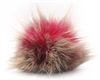 Raccoon Pom-Pom w/ Snap 507 Pink/Charcoal